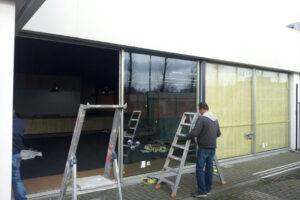 Glazen pui bedrijfspand Eindhoven